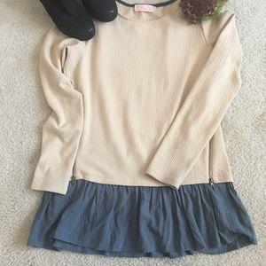 Blush long sleeve top